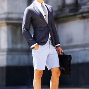 Como usar um blazer, com calções em modo business